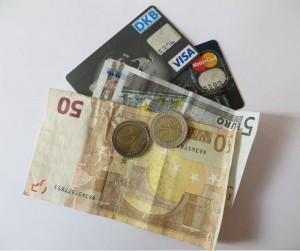 kreditkarten und Geld